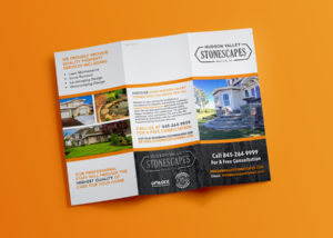 Hudson Valley Stonescapes Trifold Brochure Design