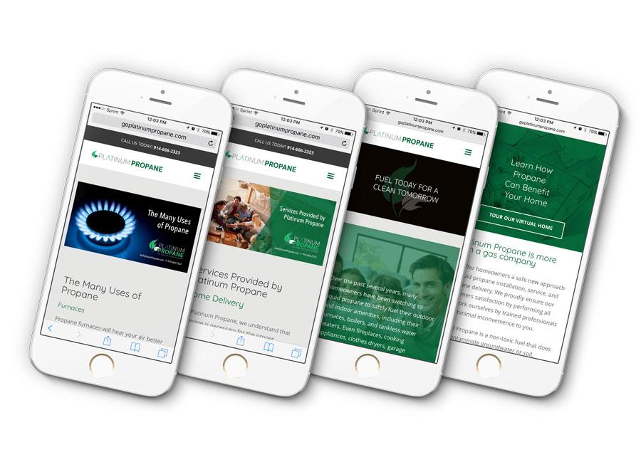 Platinum Propane Website Mobile Friendly