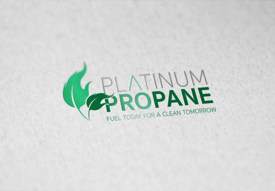 Platinum Propane Logo Design