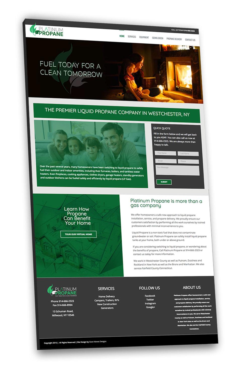 Website Design for Platinum Propane