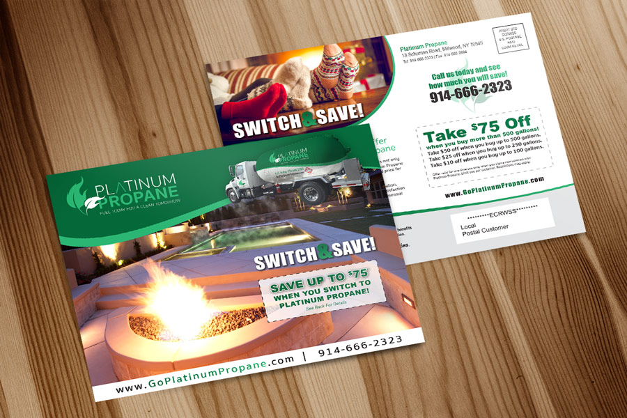 Postcard Design by Dave Nieves Designs for Platinum Propane