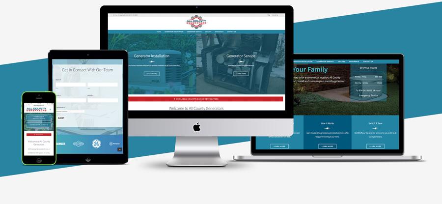 Generator Website Design